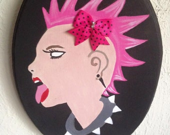 Painting, Punk girl