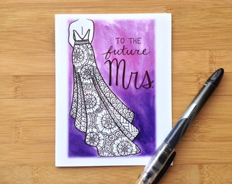 Bridal Shower Card- To The Future Mrs.