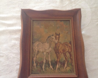 Beautiful vintage small original oil painting