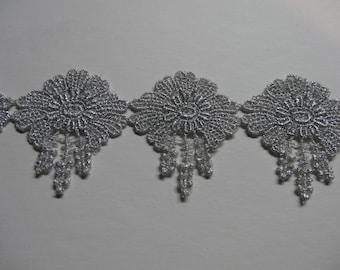 Silver Mylar Venise Lace
