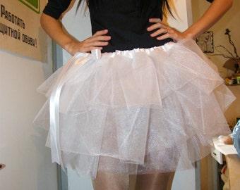 white tulle tutu skirt