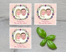 Thank You Cards, Custom Portrait Thank You Cards, Personalized Cards, Thank you Cards Set, Wedding Favors, Wedding Gifts, Thank you notes