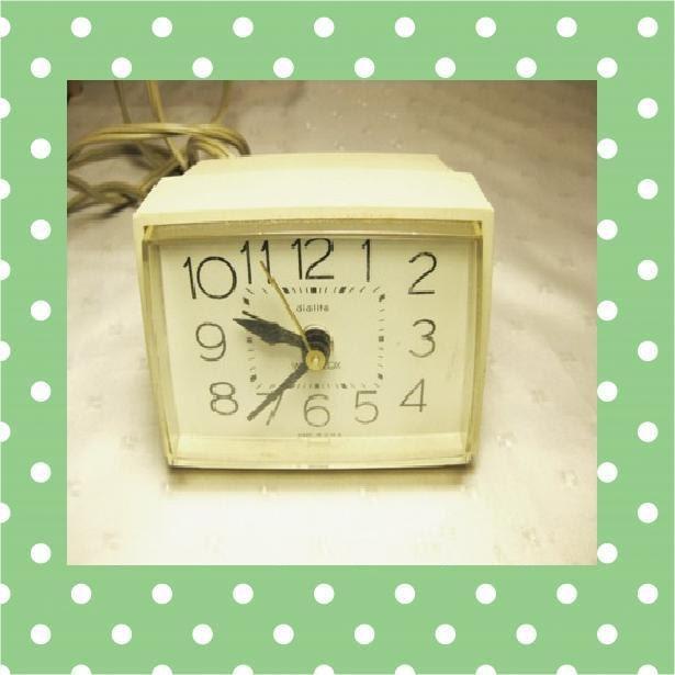 r veil matin westclox vintage horloge de table bureau cadran. Black Bedroom Furniture Sets. Home Design Ideas