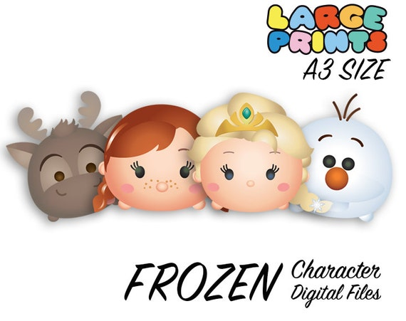 Frozen Tsum Tsum Character Digital Large Print Files