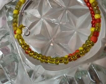 Orange and lime bracelet