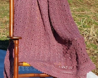 Pink Freckled Afghan