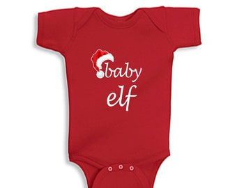 Baby Elf Baby Onesie Infant Baby Lap Shoulder Bodysuit Onesie Christmas Holiday Baby Onesie
