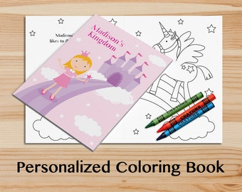 personalized princess coloring book a custom coloring book with your childs name kids coloring - Personalized Coloring Book