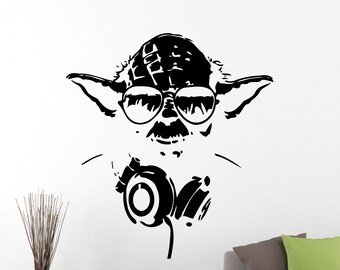 Star Wars Wall Decal Yoda Sticker Super Hero Vinyl Decal Home Interior Wall Art Mural Window Decal Removable Sticker 2ewsx