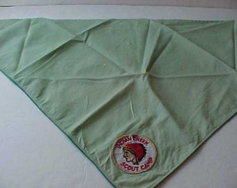 Vintage Indian Creek Scout Camp  Texas Neckerchief Free Shipping Sale Price Reduction