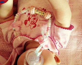 Handmade personalised dummy clip