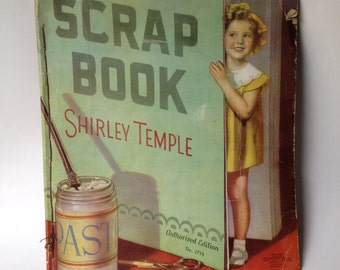 Vintage Shirley Temple Scrap Book 1935