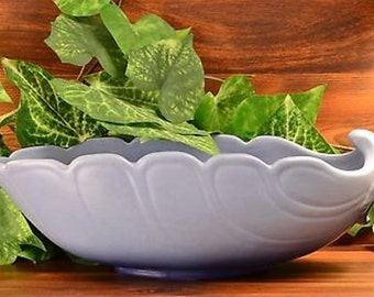 Weller Pottery 1932 - 39 Lido Blue Leaf pattern Console Bowl Planter