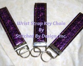 Glitter Wrist Strap Key Chain