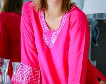 Aaina Pink Kaftan