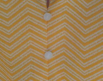 Yellow and white chevron dress