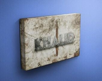 childrens islamic name canvas Khalid