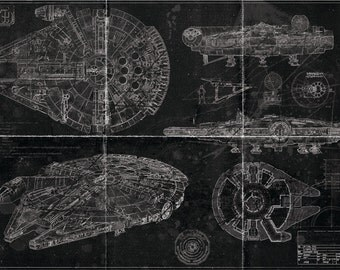 Millennium Falcon Blueprint (Blackprint Edition)