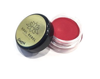 "Vegan Lipstick- Classic Red-""Gwen"""