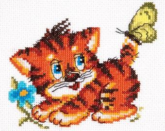 Cross Stitch KitLittle kitten