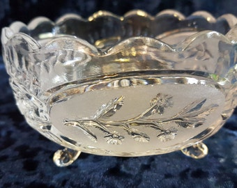 Vintage russian crystal glass bowl made in ussr