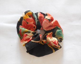 SALES-20% Chauhan in black Japanese fabric flower