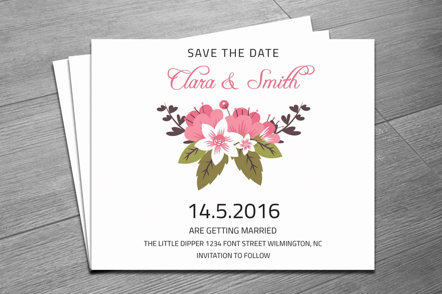 save the date invitation template by weddingtemplatestock on etsy. Black Bedroom Furniture Sets. Home Design Ideas