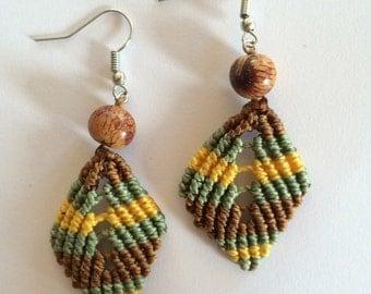 Leaf Earrings Macramé