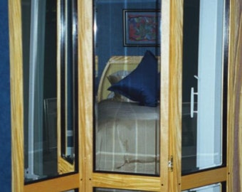 REFLECTIONS: 3 panel folding screen, large and heavy woodworking furniture plans