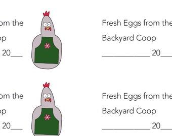 Egg carton labels etsy pre designed 2x4 lavender hen egg carton labels pronofoot35fo Image collections