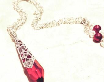 Beautiful Red Swarovski Crystal necklace