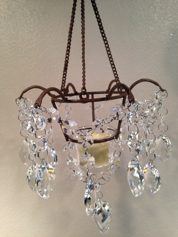 Wall Decor With Crystals : Crystal wall decor with battery operated candle