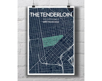 The Tenderloin - San Francisco City Map Print