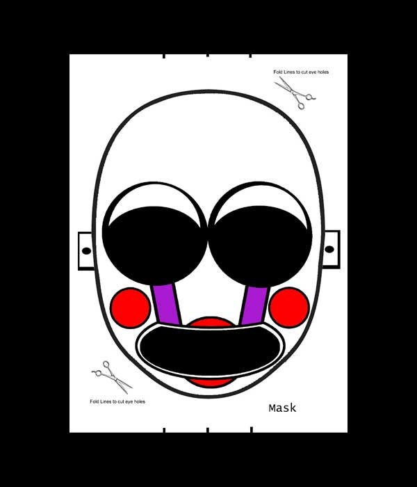 Clean image pertaining to five nights at freddy's printable mask
