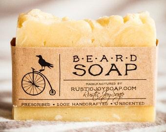 Beard Soap -  soap for men, gift for men, gift for boyfriend, Valentine's Day gift, soap for beard, all natural soap, homemade soap