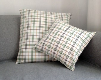 Cushion Tartan green / mustard