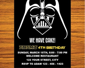 Star Wars Invitation - Star Wars Party Invitation - Star Wars Birthday Party Invite - Star Wars Party Printable - FREE  card THANK YOU | ms1