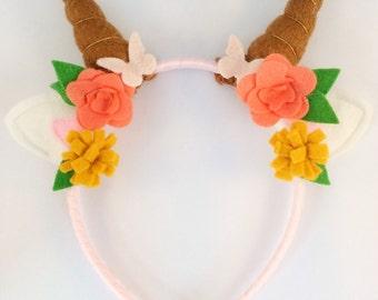 Faun horns headband