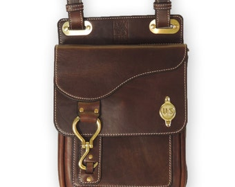 US Cavalry Leather Messenger Bag