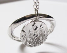 Divergent Necklace The Flames Of Courage Dauntless Fire Necklace - Silver Fashion Pendant