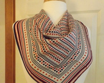 Vintage Red White & Blue Scarf,Spring Scarf, Summer Scarf