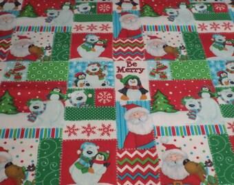 Christmas Fabric/ polar bears /Santa/ By the 1/2 Yard