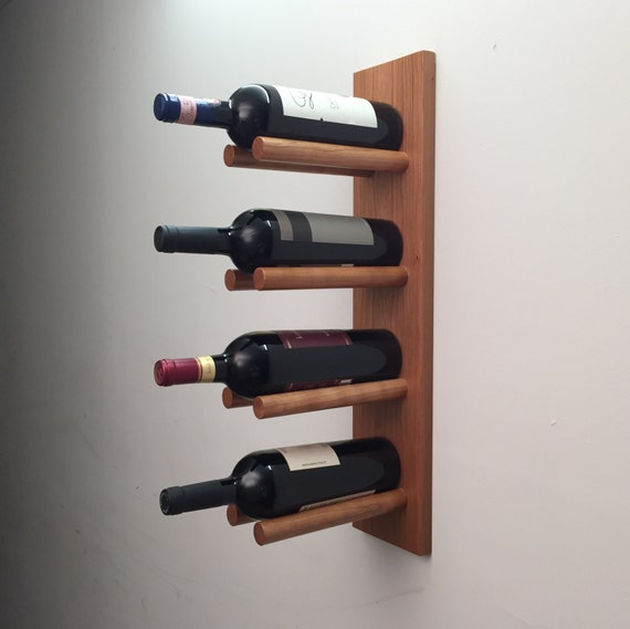 Modern Wine Rack Wood Wall Rack Wall Mount By Lomaliving