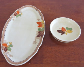 Serving dish and small plate - Myott Staffordshire England