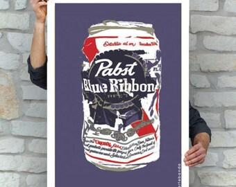 PBR Beer Cerveza Poster | Pop Art  | Street Art | Pabst Blue Ribbon