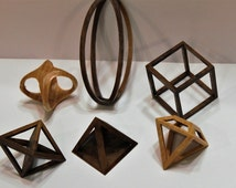 Scroll Saw Pattern:  3D Geometric Shapes