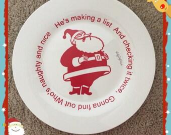 Naughty or nice, Christmas plate