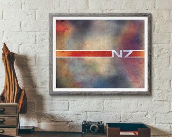 Mass Effect N7 Digital Print Fan Art