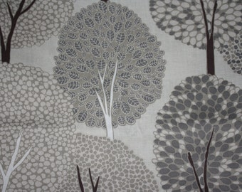 cushion cover trees  on natural greys beiges taupes