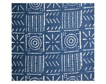 Geometric Indigo Print Khadi Cotton Flat Bed Sheet - Super King